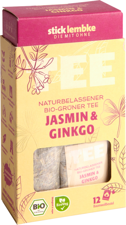 Naturbelassener Bio-Grüner Tee Jasmin & Ginkgo