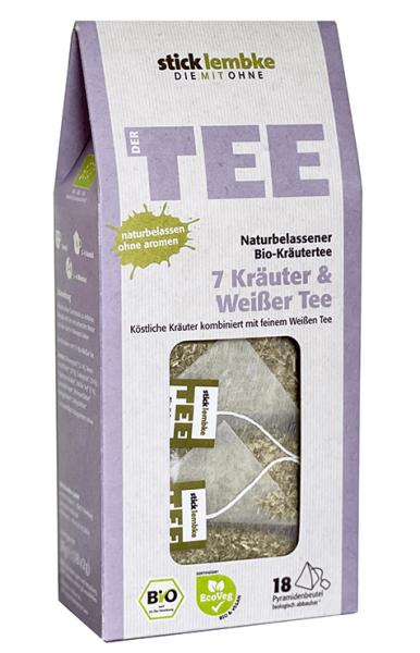 Bio-Kräutertee 7 Kräuter & Weißer Tee