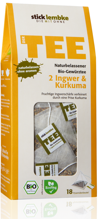 ALL-NATURAL ORGANIC SPICE INFUSION 2 GINGER & TURMERIC