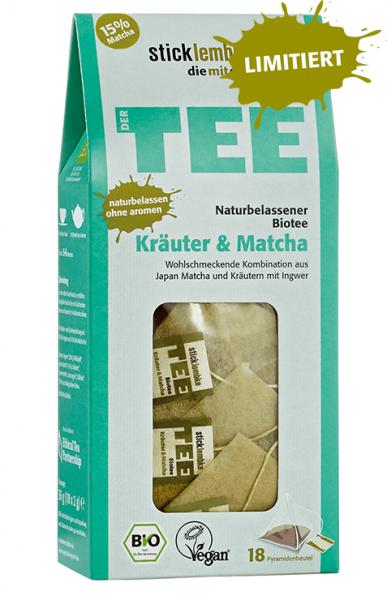 Bio-Tee Kräuter & Matcha