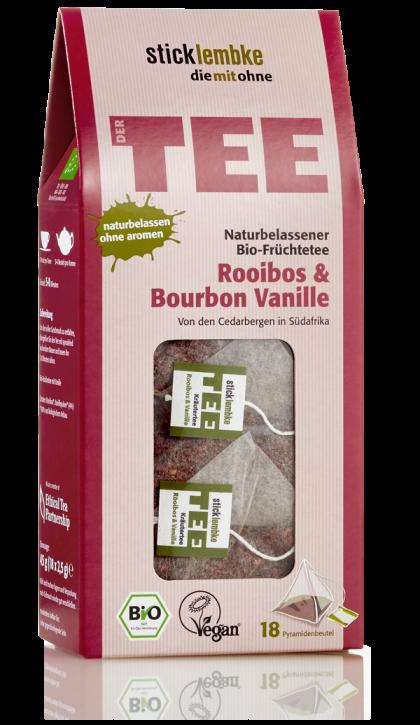 Naturbelassener Bio-Kräutertee Rooibos & Bourbon Vanille