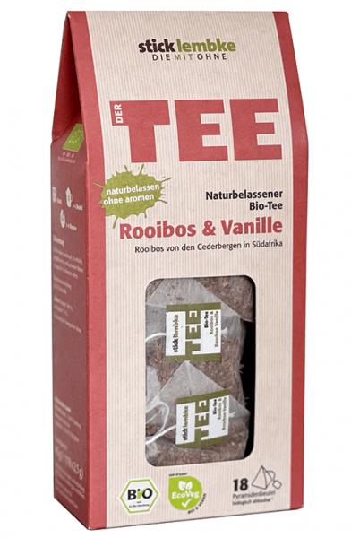Naturbelassener Bio-Tee Rooibos & Vanille