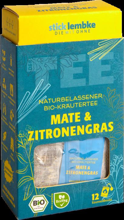 Naturbelassener Bio-Kräutertee Mate & Zitronengras