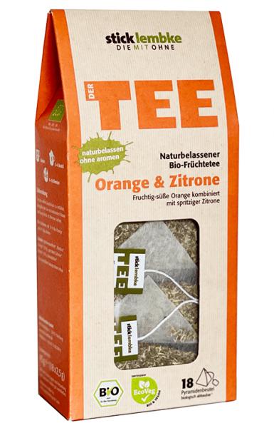 Bio-Früchtetee Orange & Zitrone