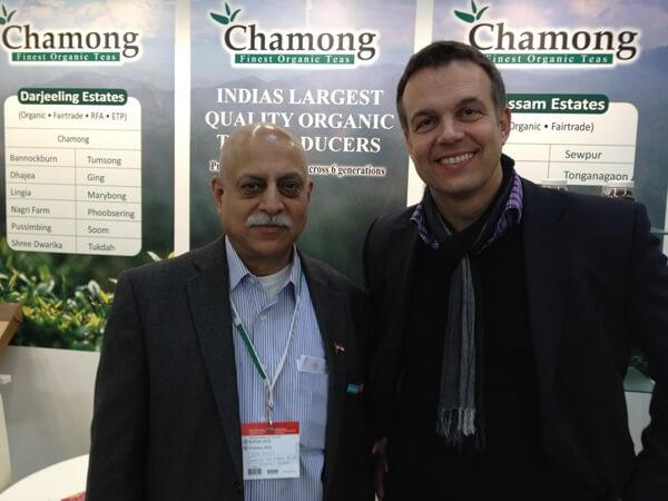 Ajay Kichlu von der Chamong Gruppe aus Indien und Kai auf der Biofach-Messe