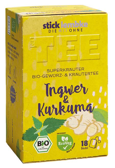 'Superkräuter' Bio-Gewürz- und Kräutertee Ingwer & Kurkuma