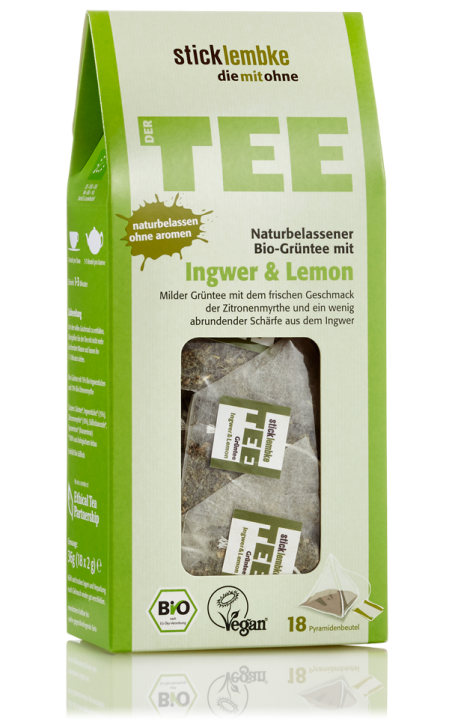 All-natural organic green tea Ginger & Lemon
