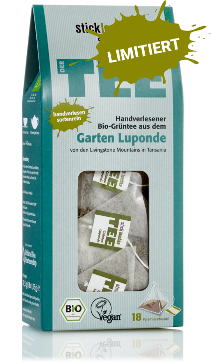 Hand-picked organic green tea from the Luponde garden